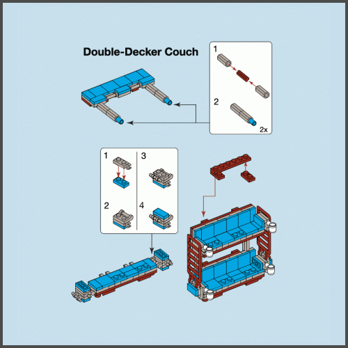double decker couch instructions